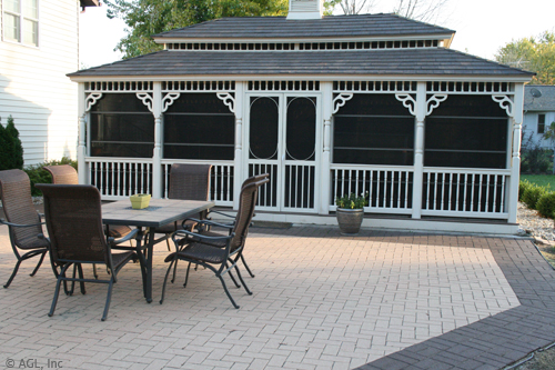 patio with gazebo